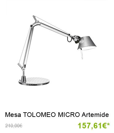 Lámpara de sobremesa tolomeo micro artemide últimas unidades