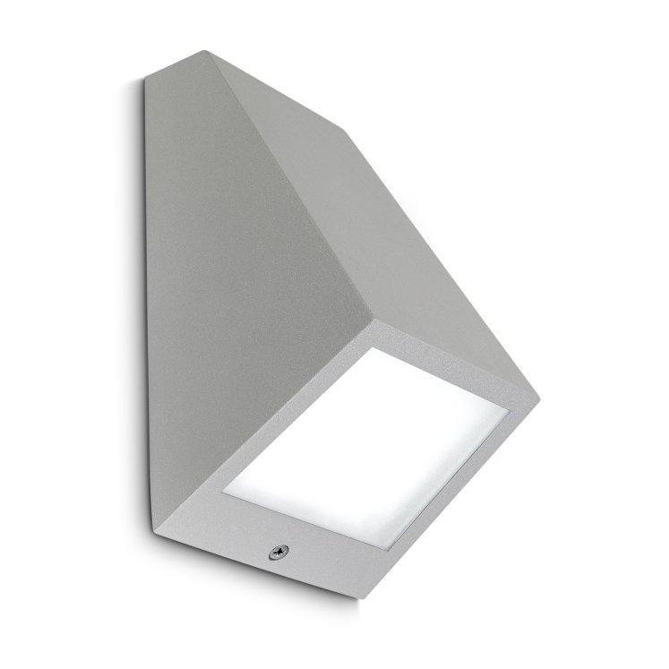 Leds c4 angle aplique exterior led gris 10w 3000 k 12cm leds c4 lamparas y luz iluminaci n - Apliques exterior led ...