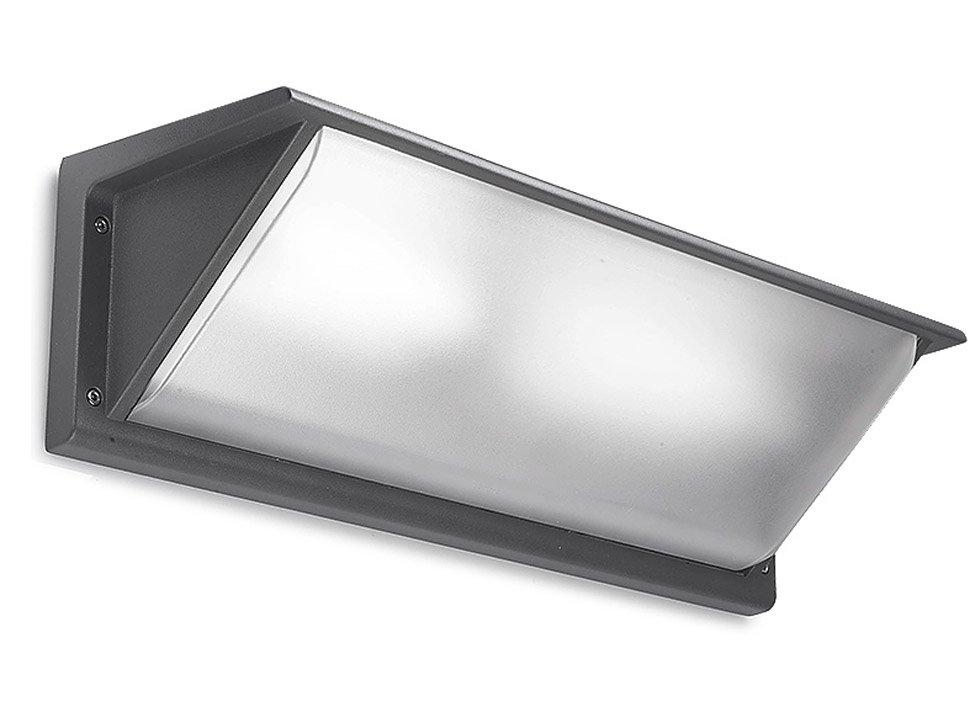 Leds c4 curie aplique exterior g24d 3 gris 26w 46cm leds c4 lamparas y luz iluminaci n - Apliques de exterior ...
