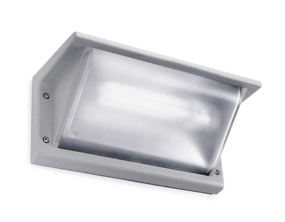 Leds c4 curie aplique exterior g24d 3 gris 26w 26cm leds - Apliques de luz para exteriores ...