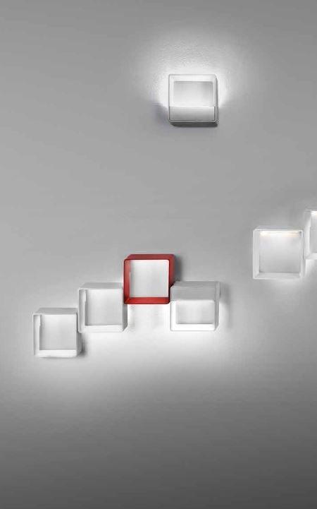 L mpara interior aplique de pared led cell me blanco leds for Lamparas de pared interior