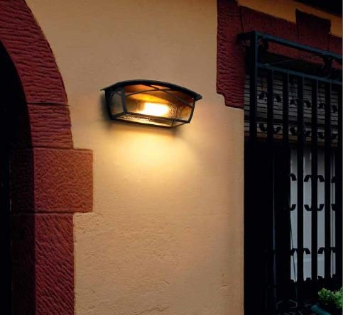 Lamparas de pared exterior faro uve led lmpara empotrable - Apliques de pared exterior ...