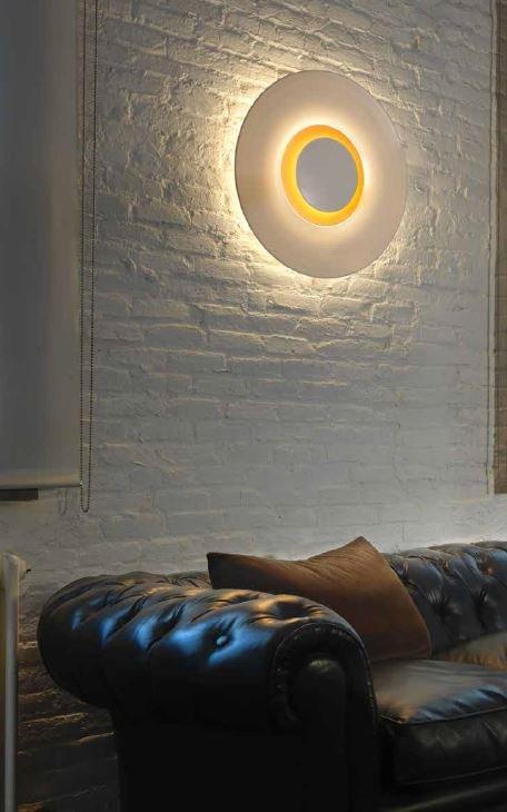 L mpara interior aplique de pared bigbang blanco mate leds for Lamparas de pared interior