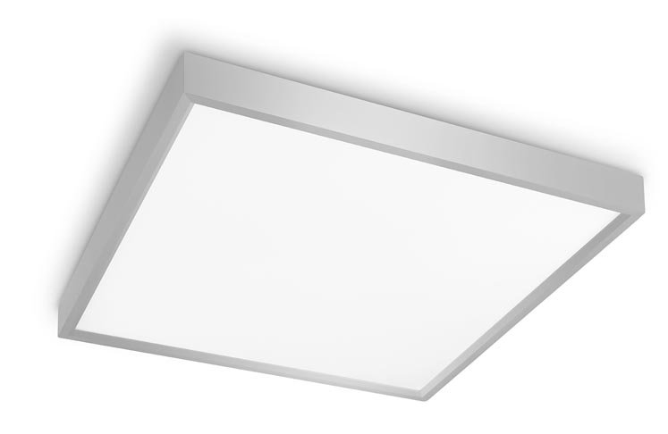 L mpara interior plaf n led net n quel satinado 55w leds for Plafones led pared bano