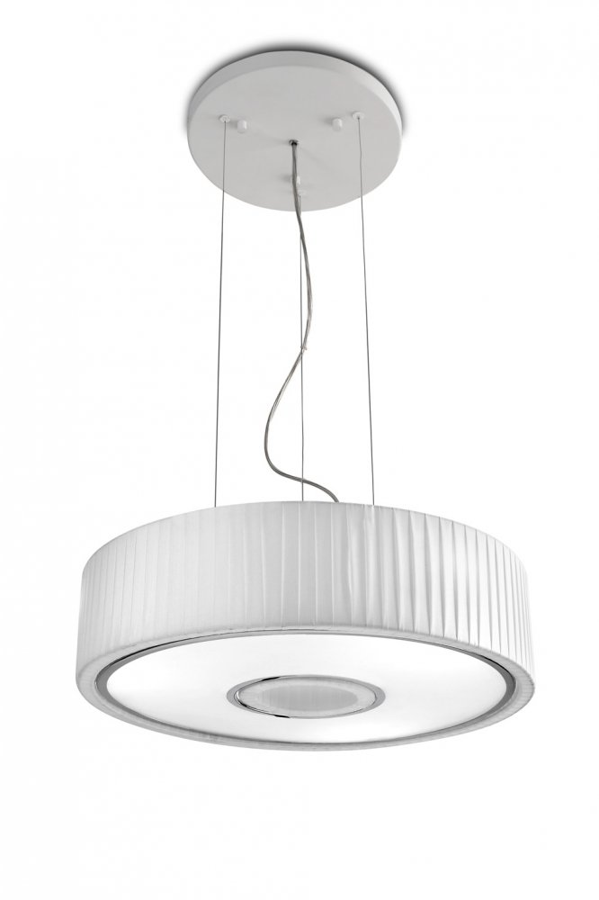 L mpara interior colgante spin acero cromo blanco 100cm for Lamparas led interior